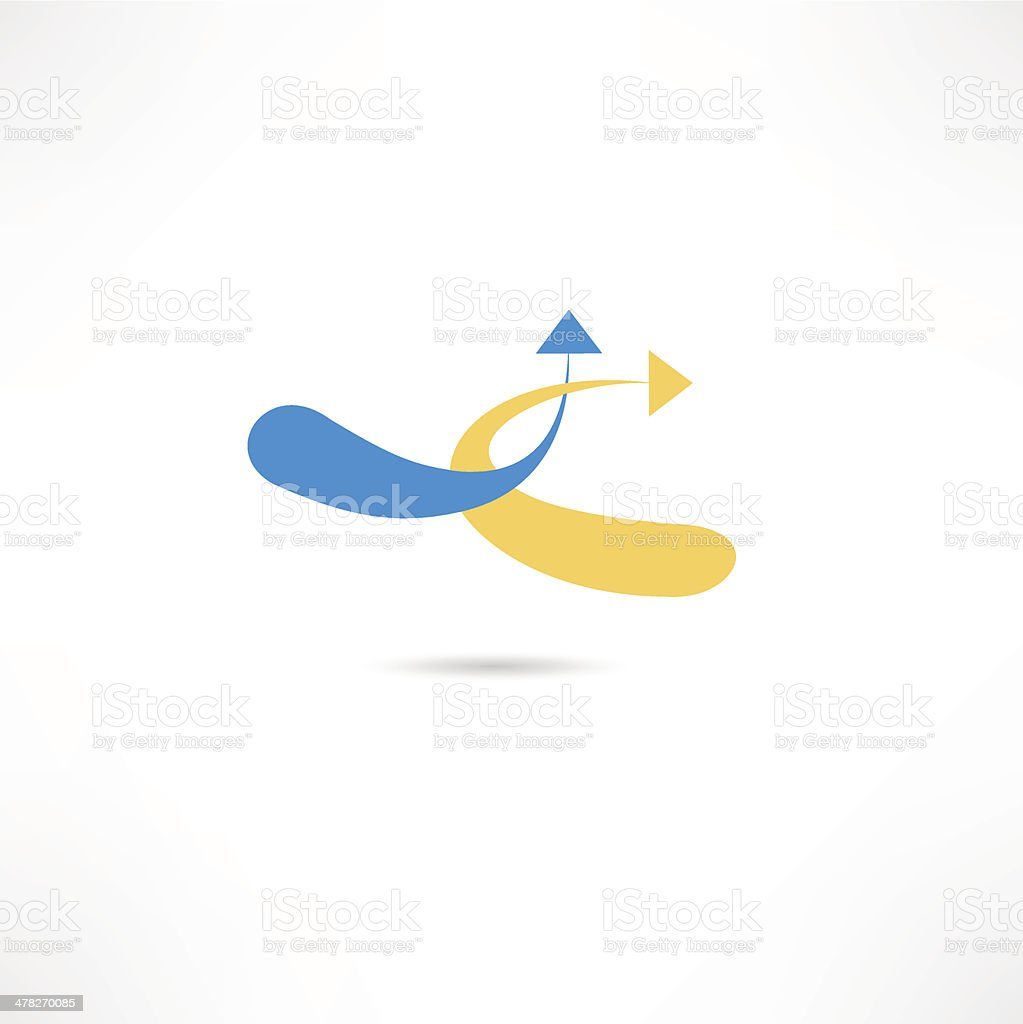 Abstract Arrow Icon vector art illustration