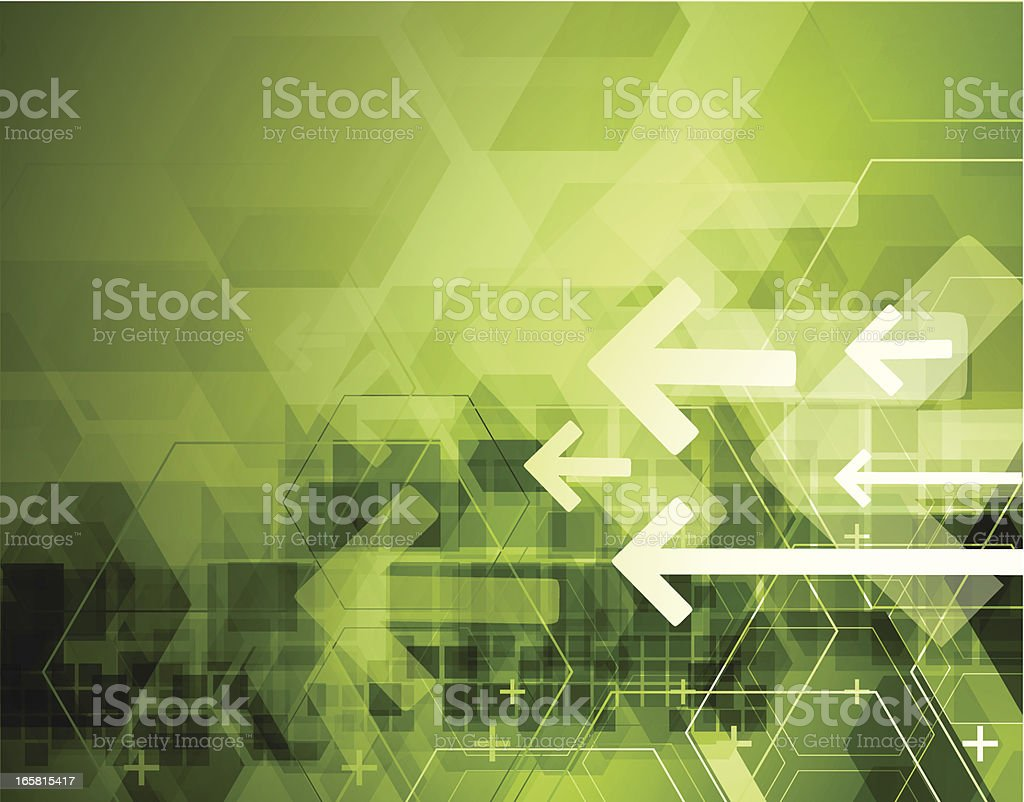 Abstract arrows technical background royalty-free stock vector art