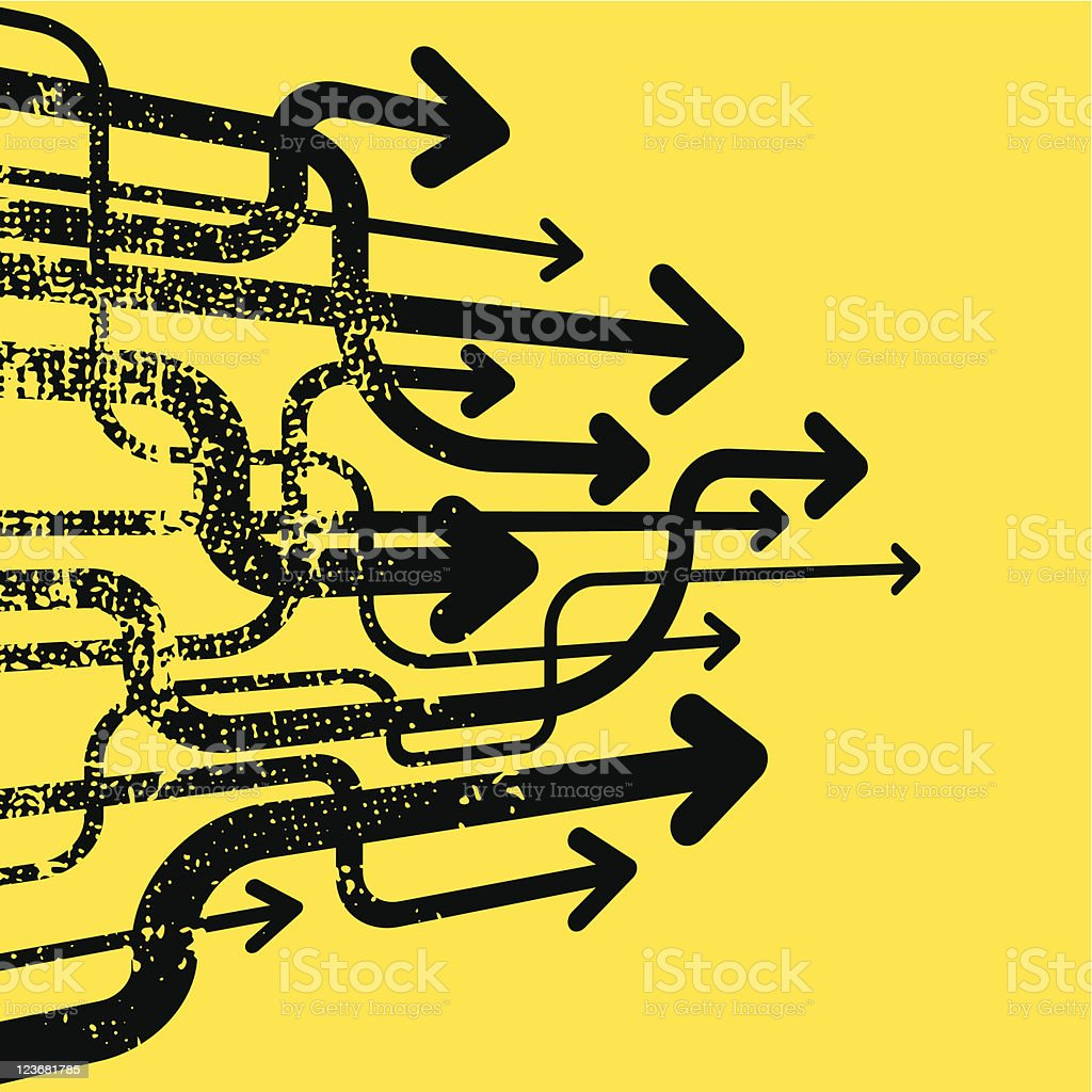 abstract arrows royalty-free stock vector art