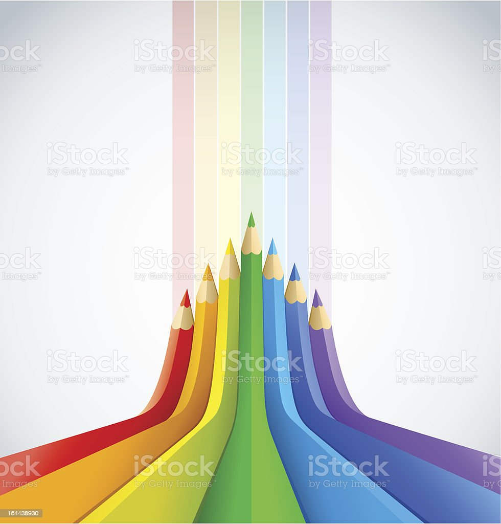 abstract art background with colour pencils royalty-free stock vector art