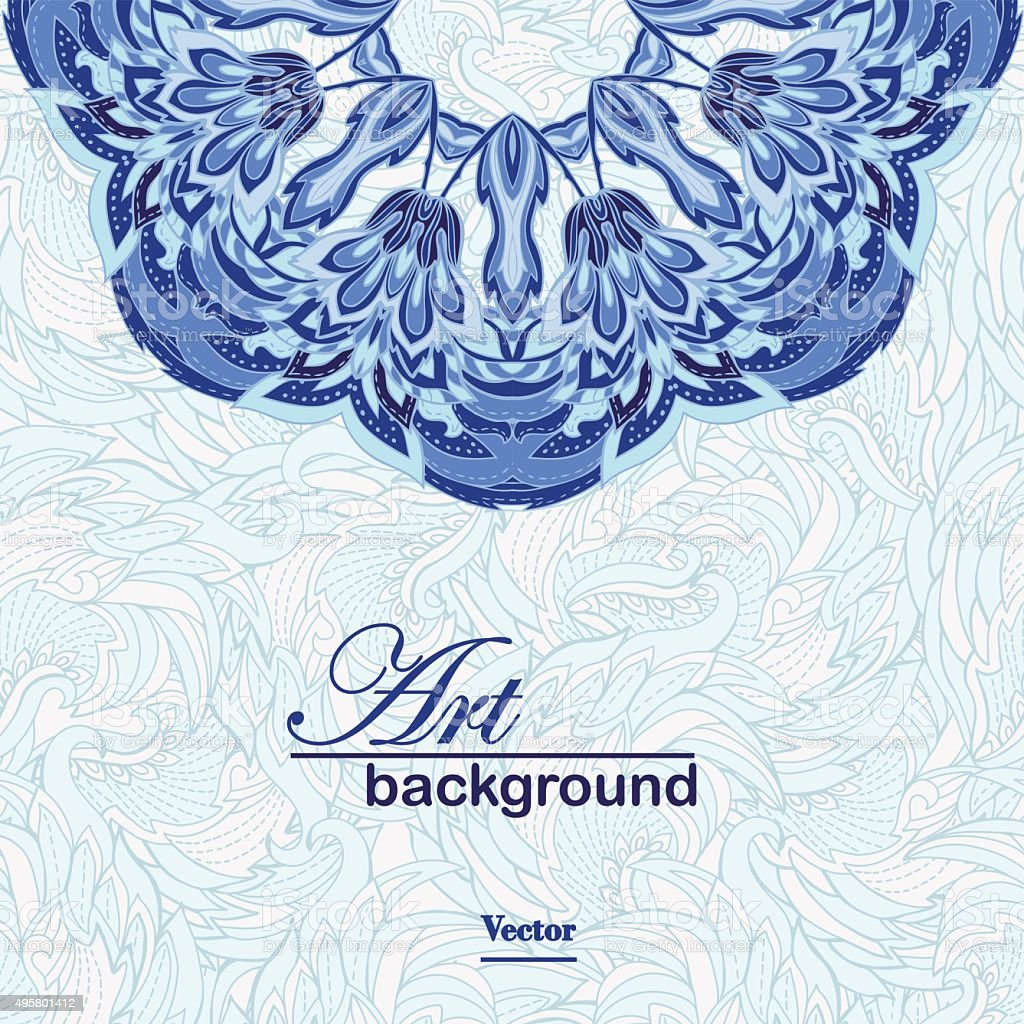 Abstract artistic background vector art illustration