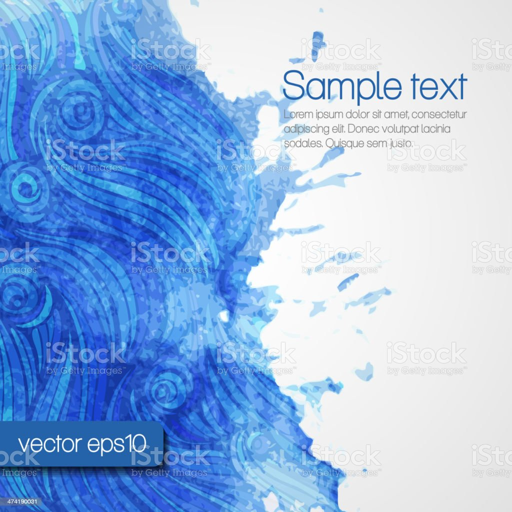 Abstract artistic Background with watercolor blots vector art illustration