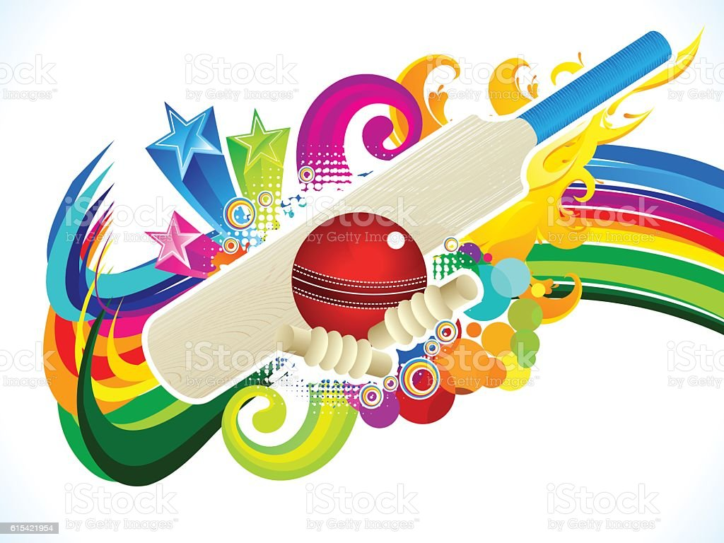 abstract artistic cricket background vector art illustration