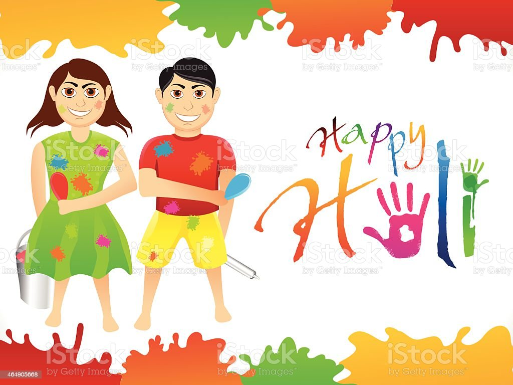 abstract artistic holi background vector art illustration