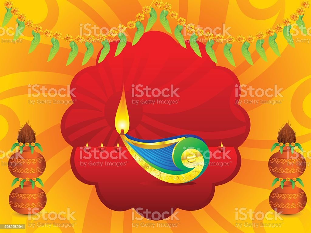 abstract artistic indian celebration background vector art illustration