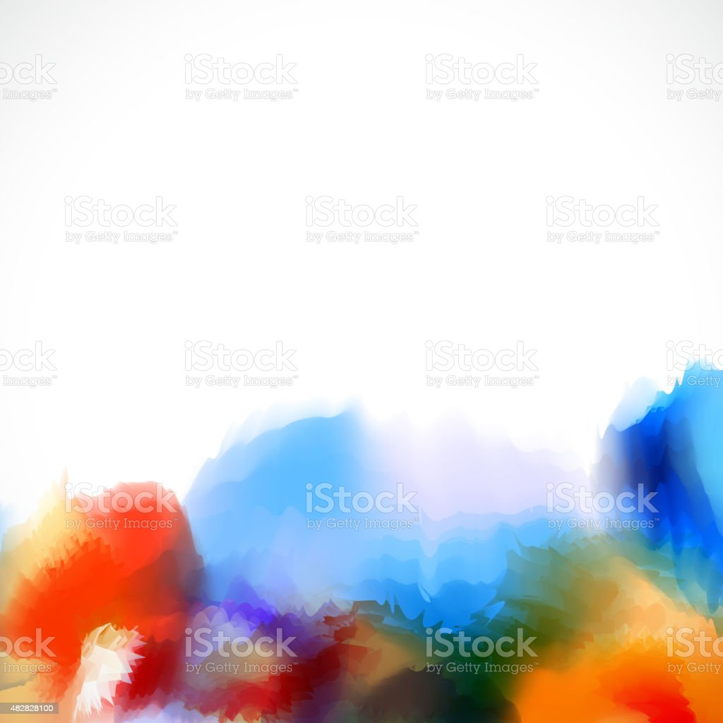 Abstract artistic watercolor background vector art illustration