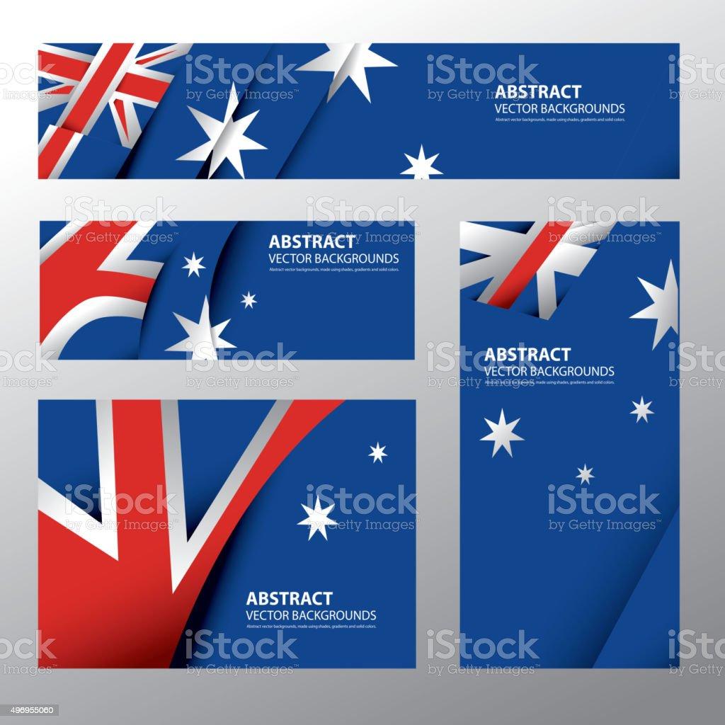 Abstract Australia Flag, Australian Colors (Vector Art) vector art illustration