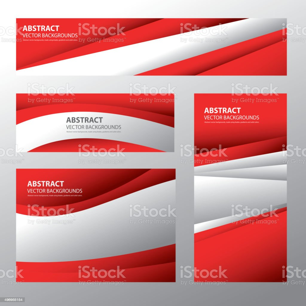 Abstract Austria Flag, Austrian Colors (Vector Art) vector art illustration