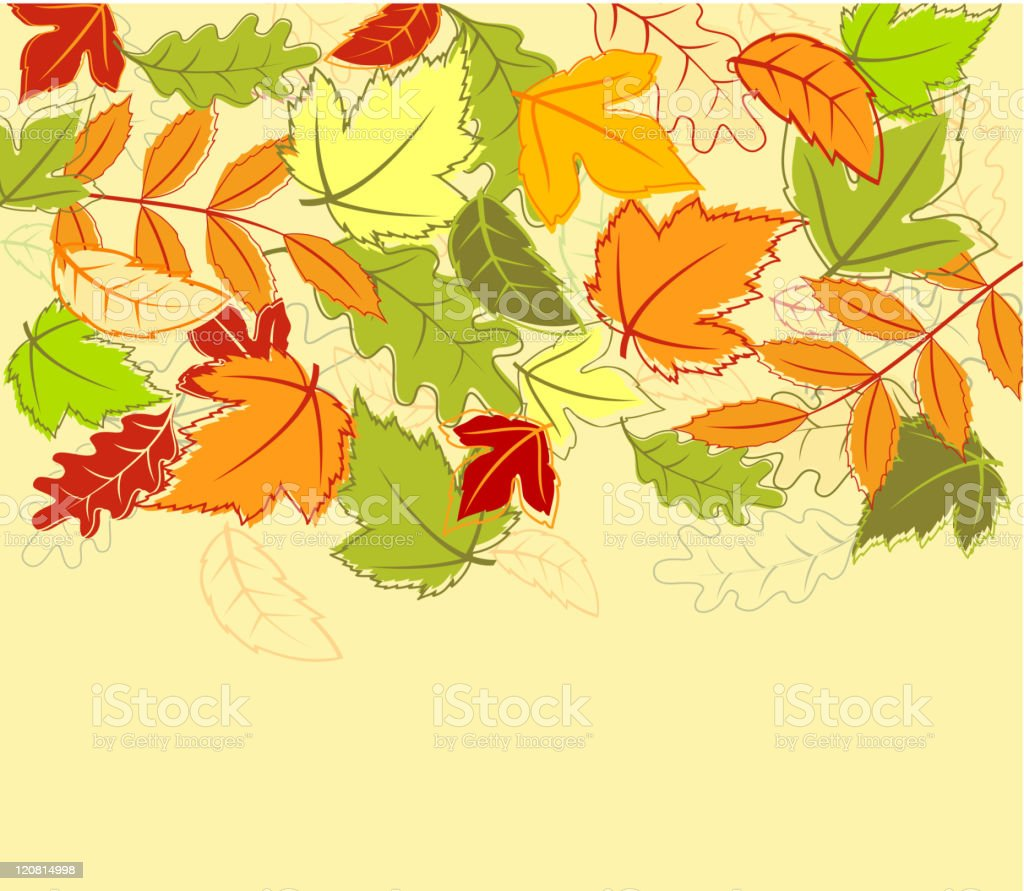 Abstract autumn background royalty-free stock vector art