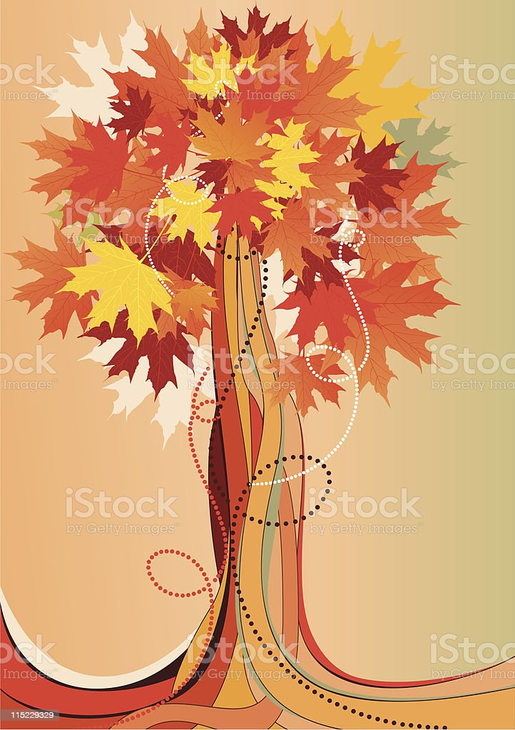 abstract autumnal tree royalty-free stock vector art