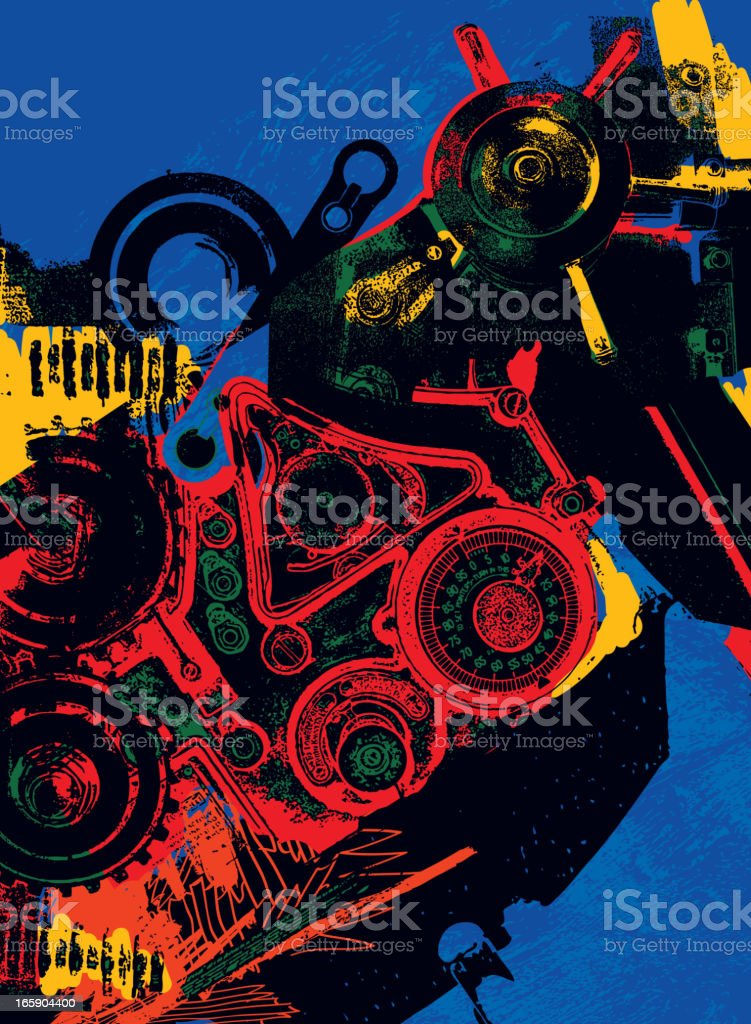 Abstract avant-garde background royalty-free stock vector art