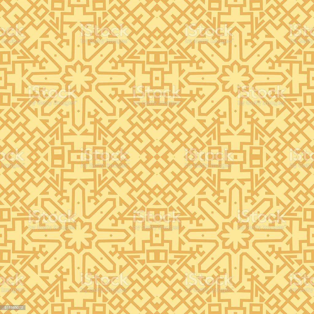 Abstract Aztec Vintage Seamless Pattern vector art illustration
