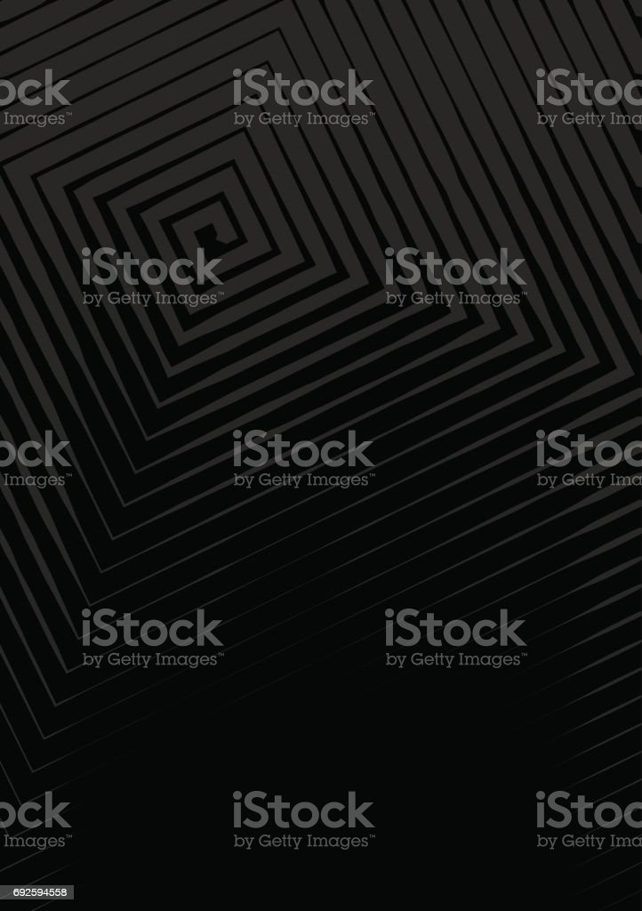 Abstract background a4 format. Halftone pattern spiral. Square, spiral, line vector art illustration