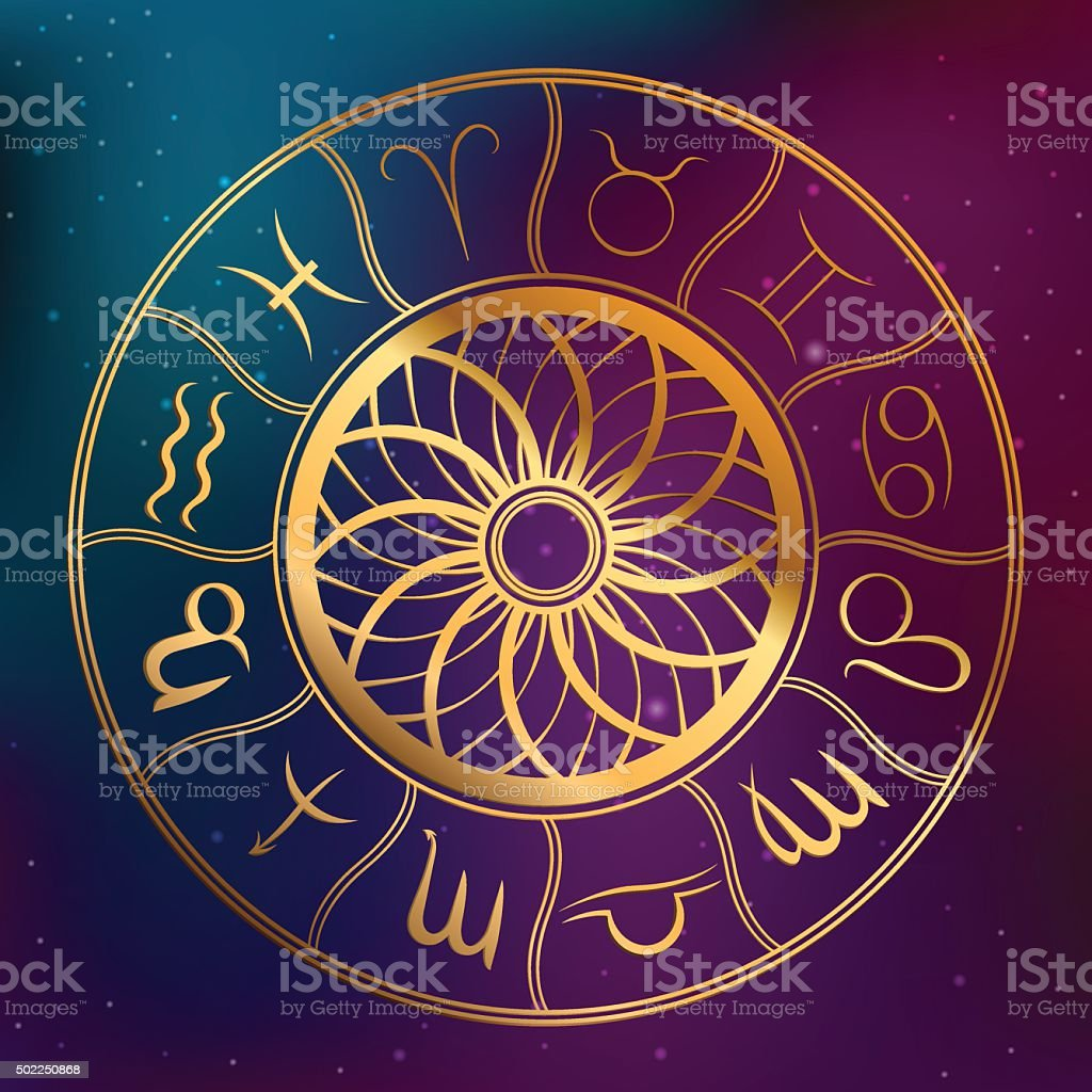Abstract background astrology concept horoscope with zodiac signs illustration vector vector art illustration