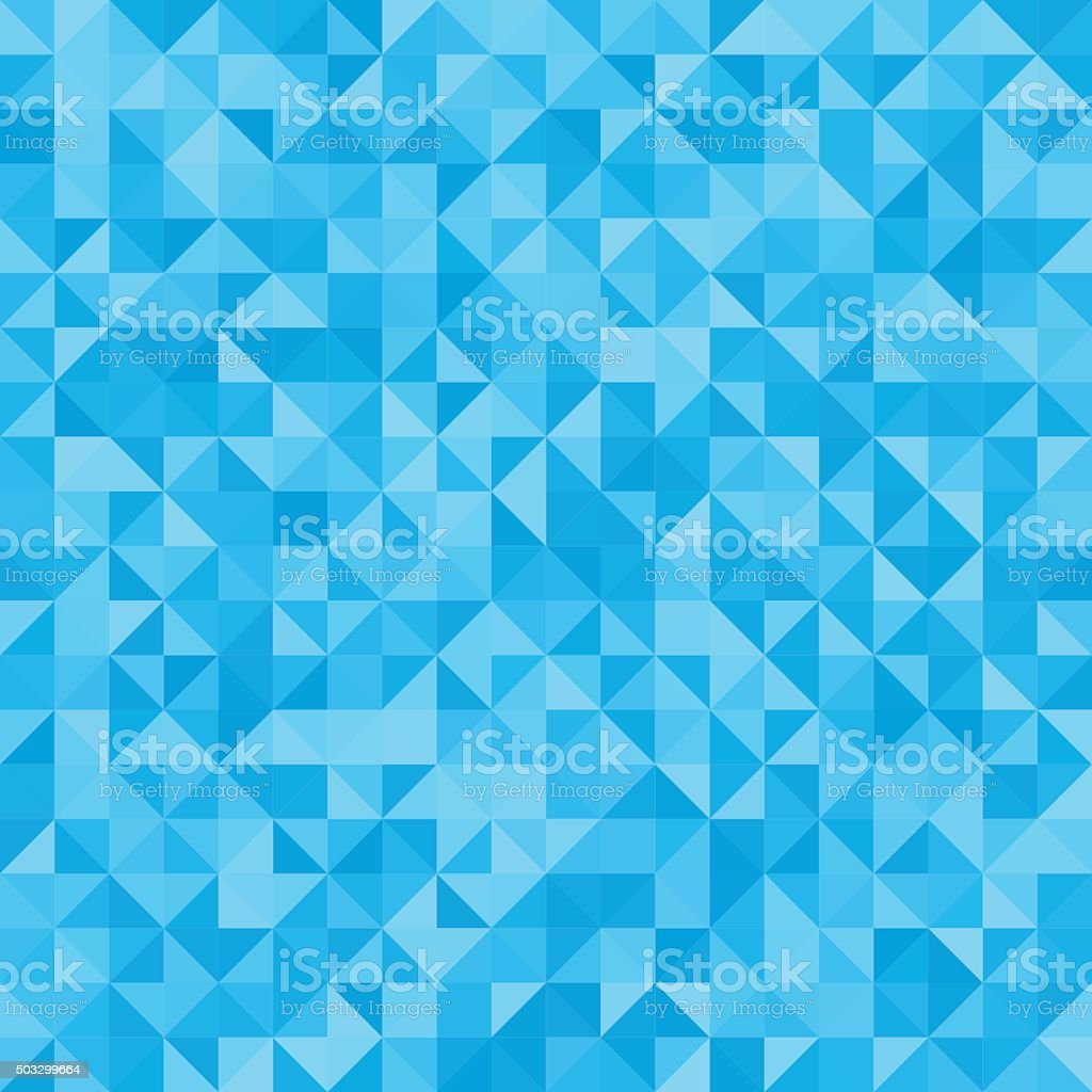 Abstract background blue triangles vector art illustration