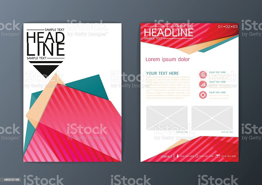 A Abstract Background Business Brochure Flyer Layout Design
