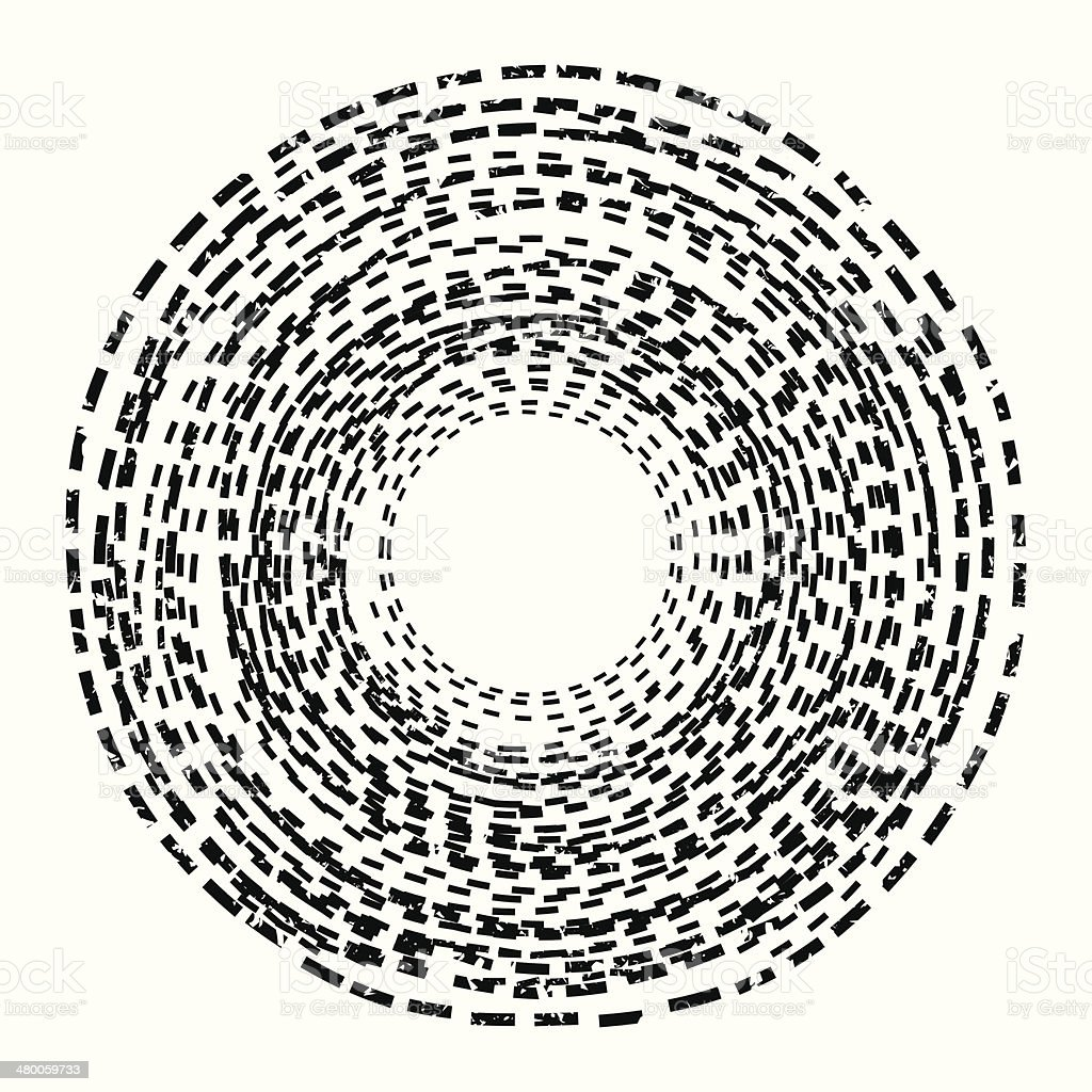Abstract background. Circle of the dotted line. Black and White royalty-free stock vector art