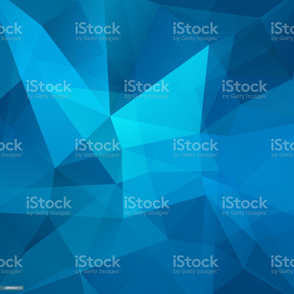 abstract background consisting of blue triangles vector art illustration