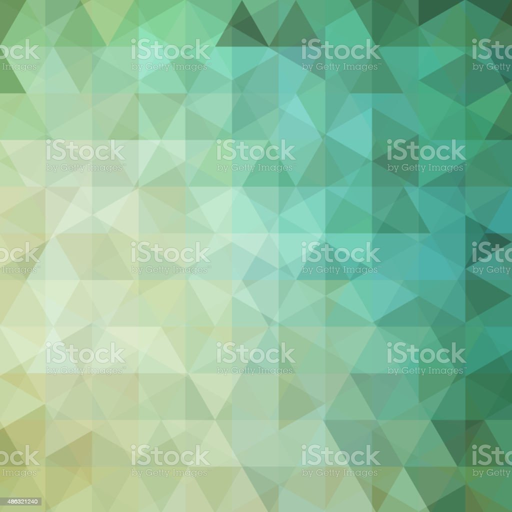 abstract background consisting of green triangles vector art illustration