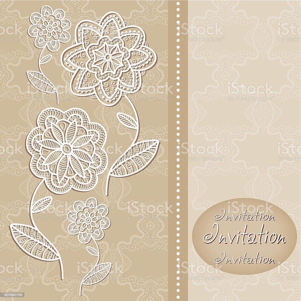 fondo abstracto grficos flores decorativas tarjeta de invitacin de boda diseo libre