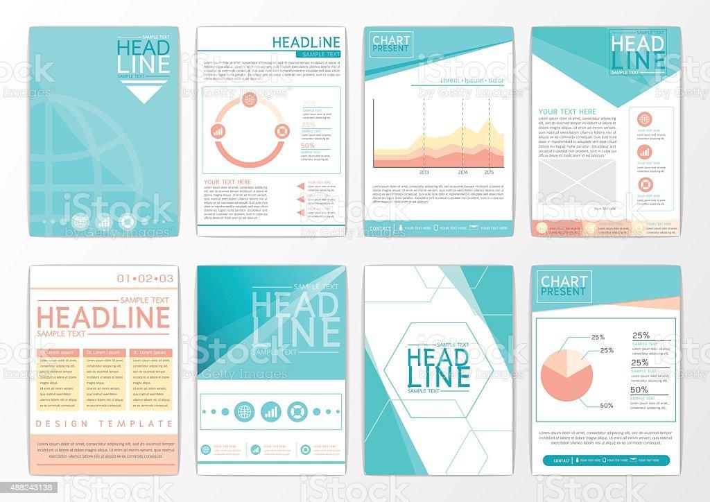 Abstract background design, business brochure big set, flyer, marketing, magazine-vector vector art illustration