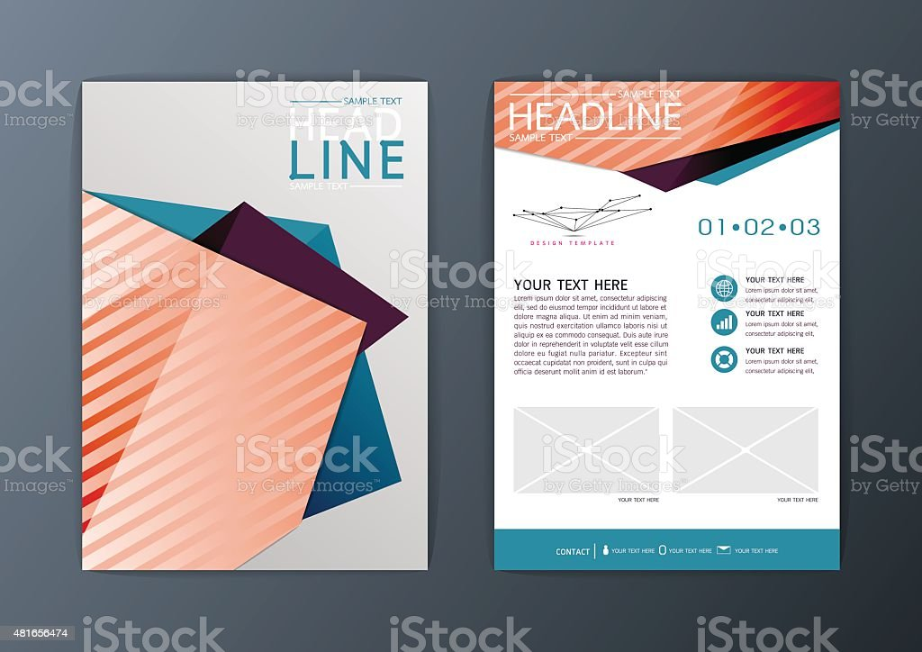 A4 Abstract Background Design Business Brochure Flyer Layout