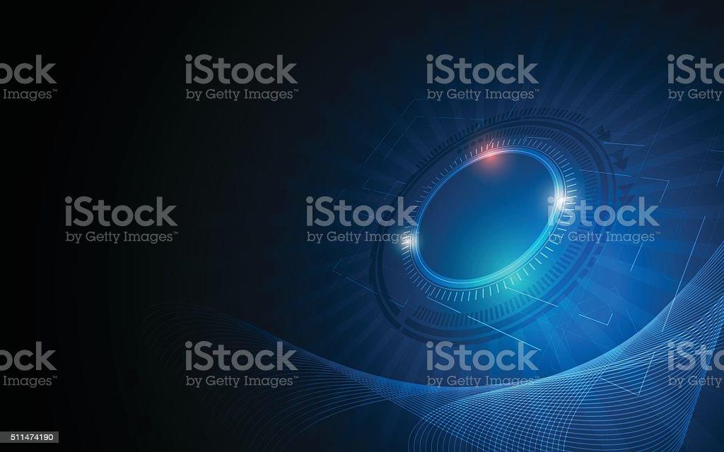 abstract background digital tech innovation concept vector art illustration