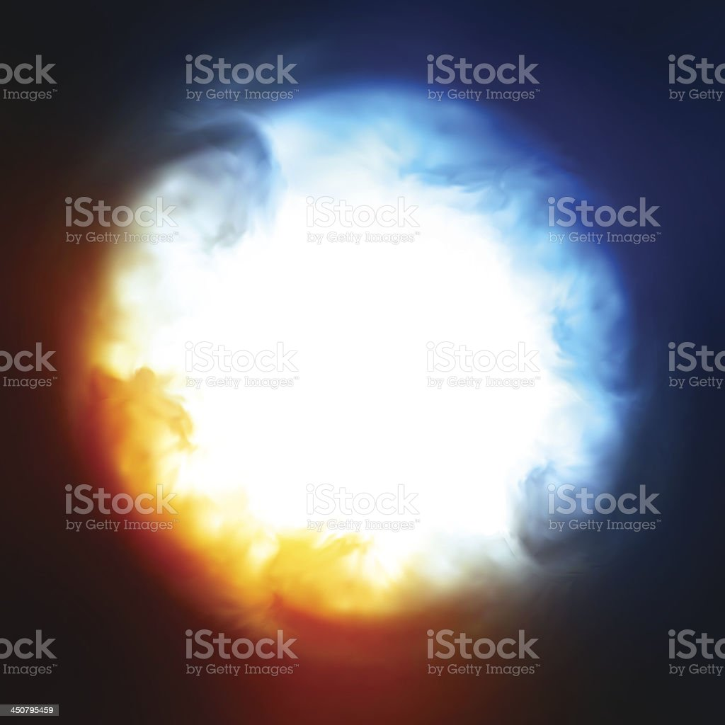 Abstract background, explosion in the sky royalty-free stock vector art