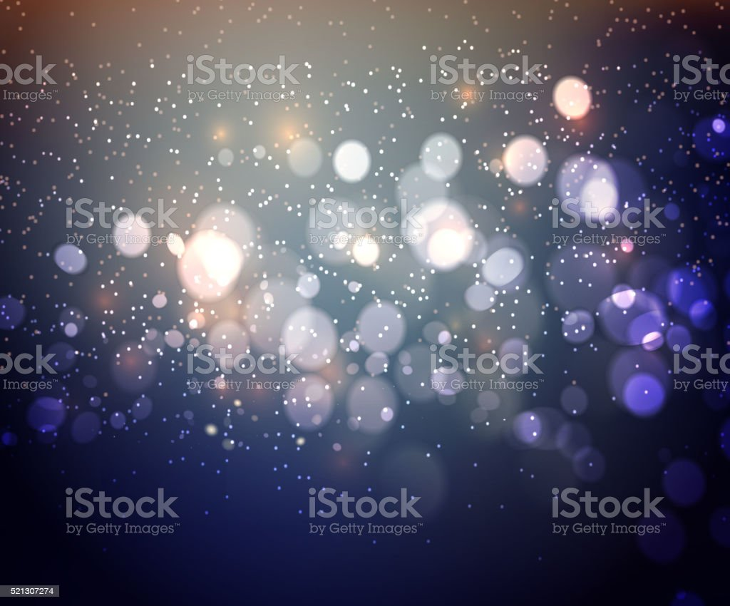 Abstract background. Festive elegant abstract background with bokeh  lights vector art illustration