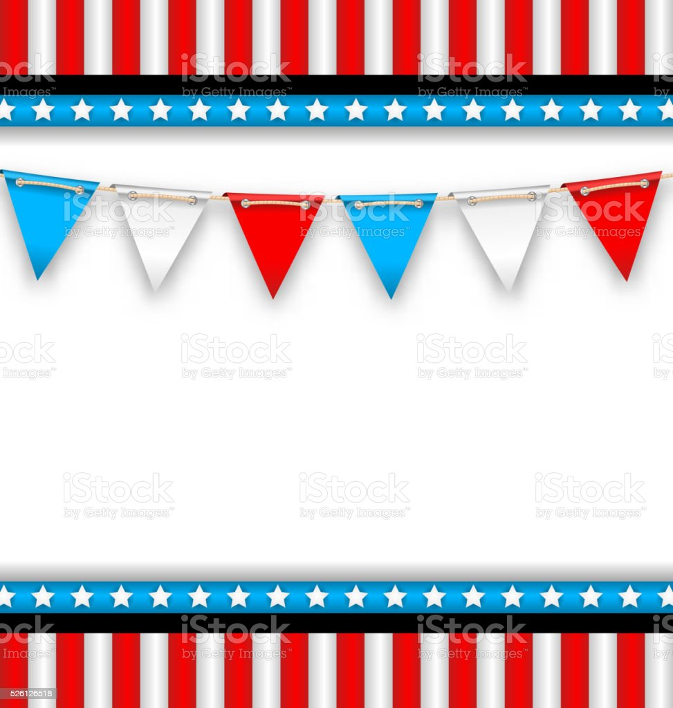 Abstract Background for National Holidays of USA vector art illustration