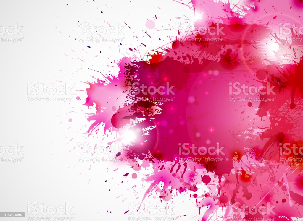 Abstract background forming  by blots vector art illustration