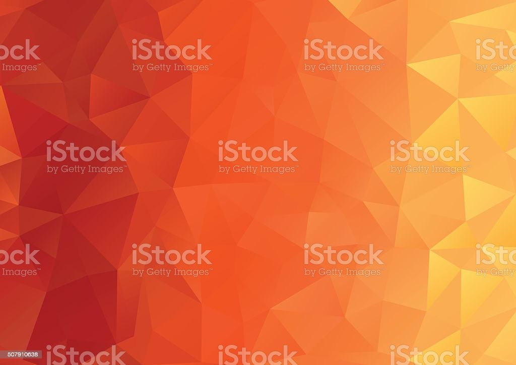 Abstract Background, Geometric, Orange vector art illustration