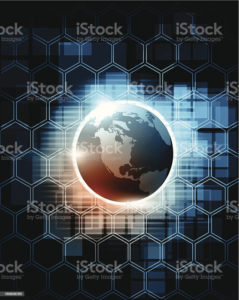 Abstract background - globe royalty-free stock vector art