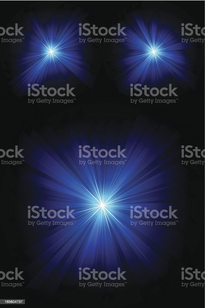 Abstract background image of bright blue lights vector art illustration