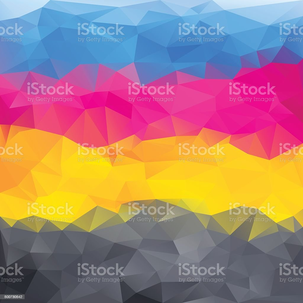 abstract background in cmyk colors vector art illustration