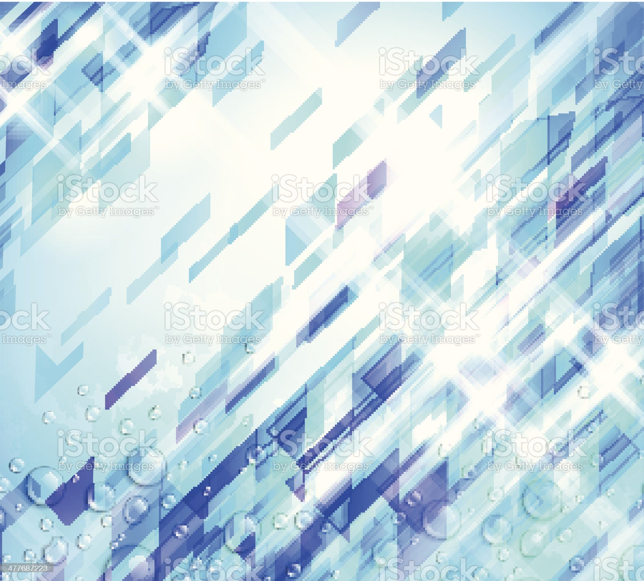 Abstract Background In Cool Color Scheme royalty-free stock vector art