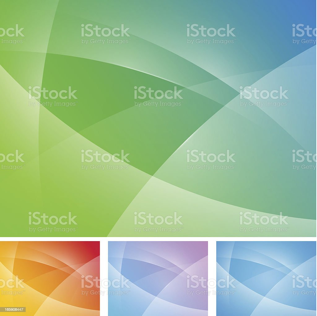 Abstract background in four feature colors vector art illustration