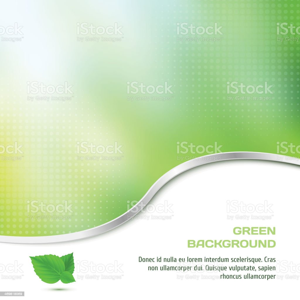 Abstract background in green color with halftone vector art illustration