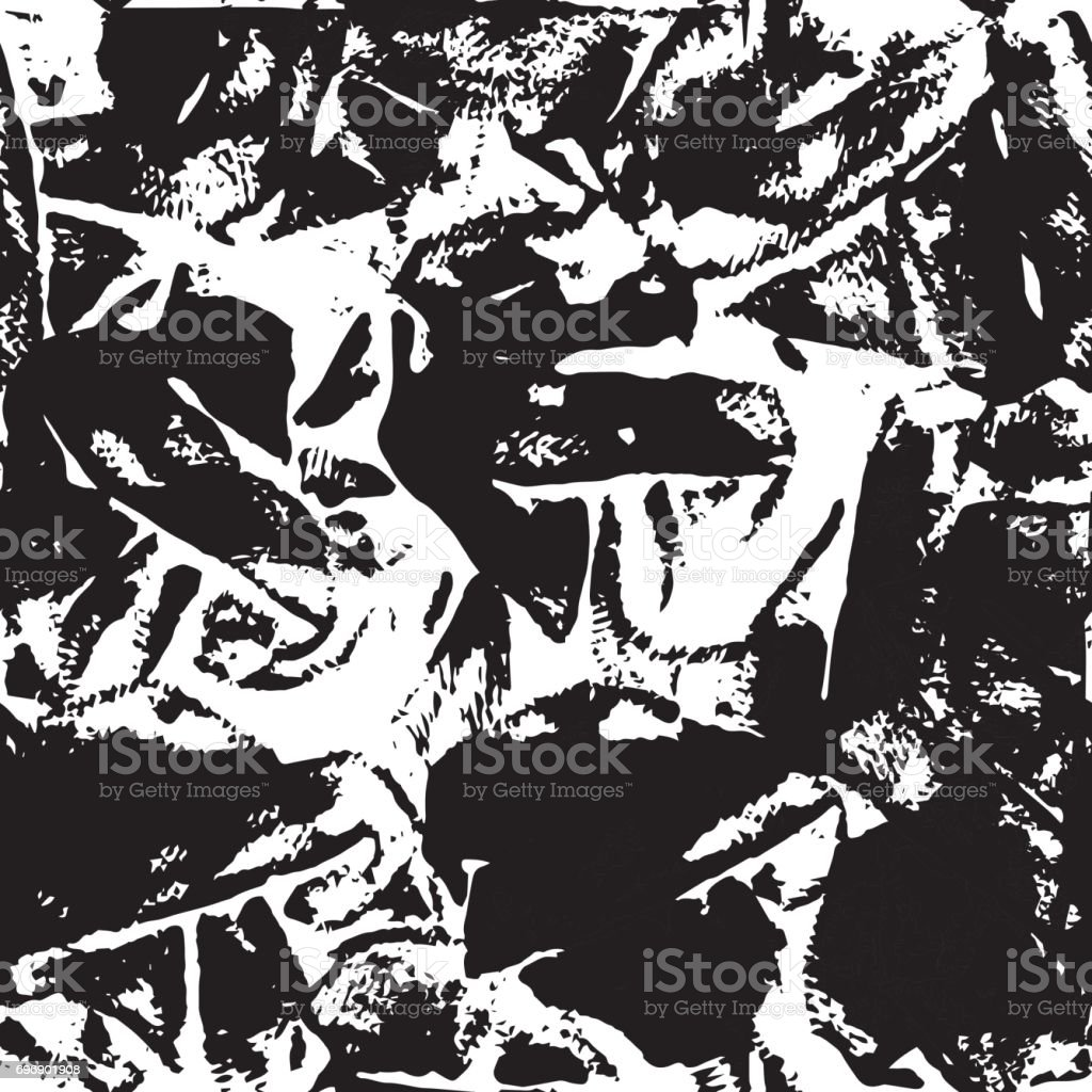Abstract Background in Grunge Style. Ink Splashes Seamless Pattern. Hand Drawn Texture. Black and White illustration. vector art illustration