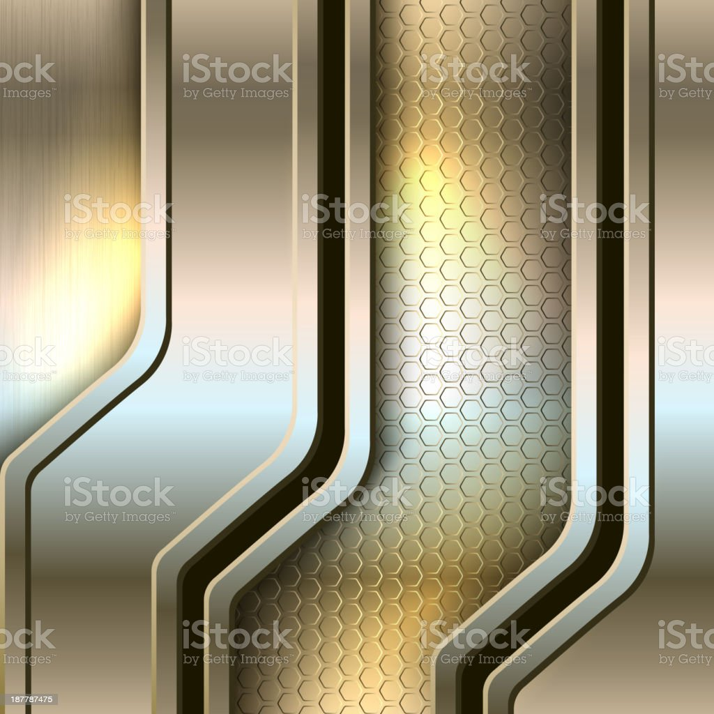 Abstract background, metallic banners royalty-free stock vector art