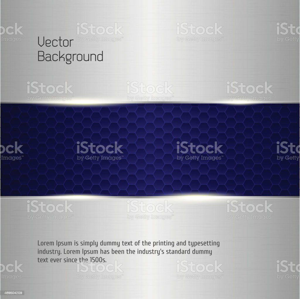 Abstract background, metallic silver banners. vector art illustration