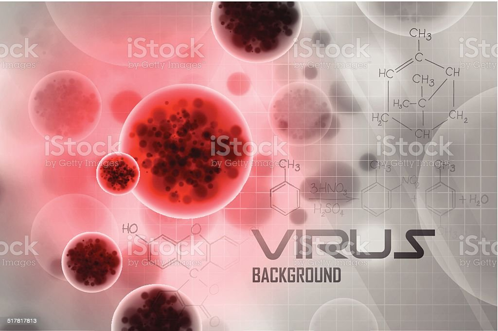 Abstract background of a virus vector art illustration