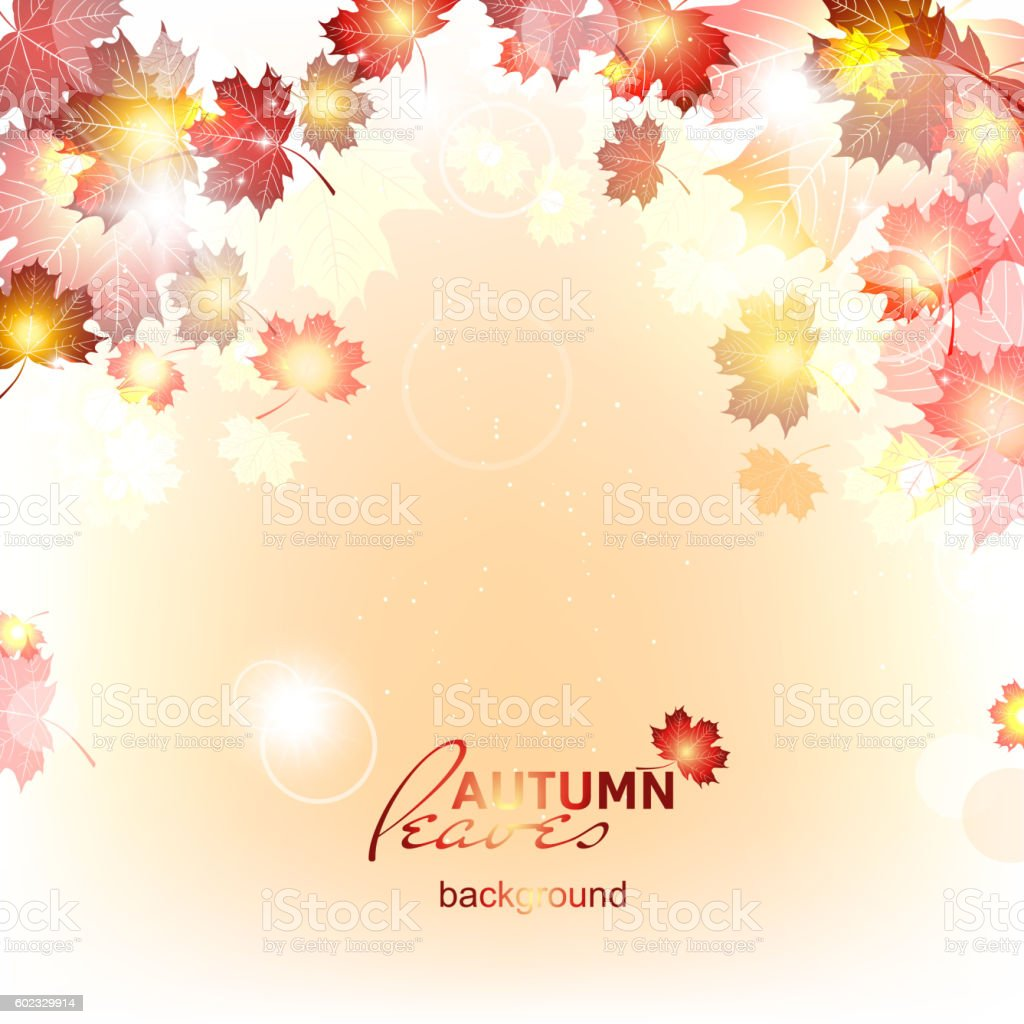 Abstract background of autumn leaf fall. vector art illustration
