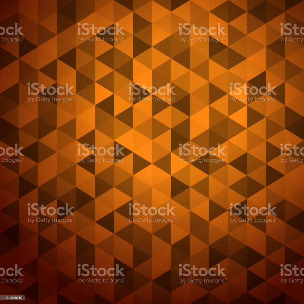 Abstract background of color triangles. Place your content vector art illustration