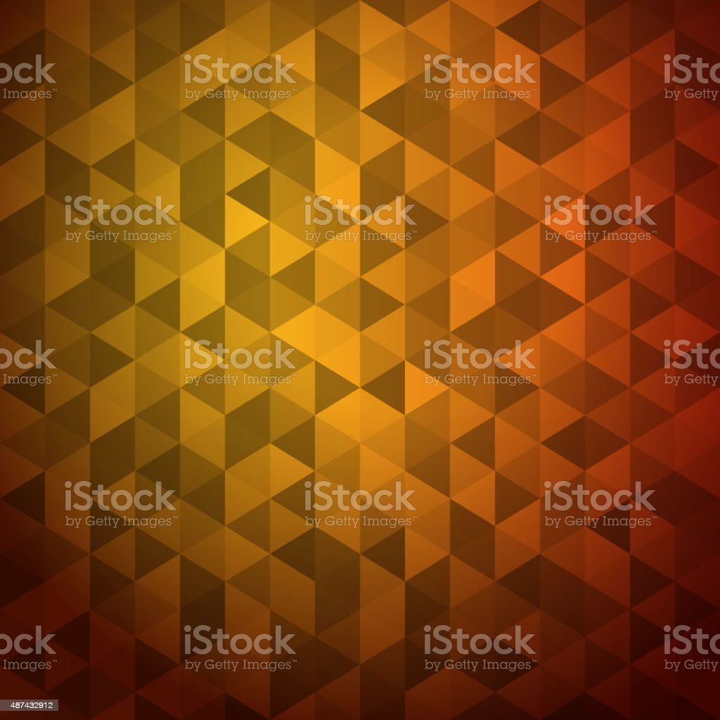 Abstract background of color triangles vector art illustration