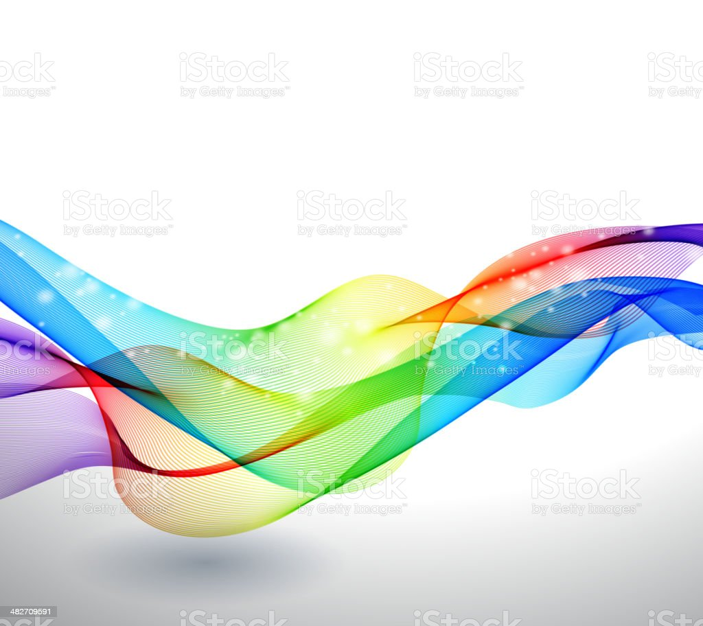 Abstract background of colorful striped waves royalty-free stock vector art