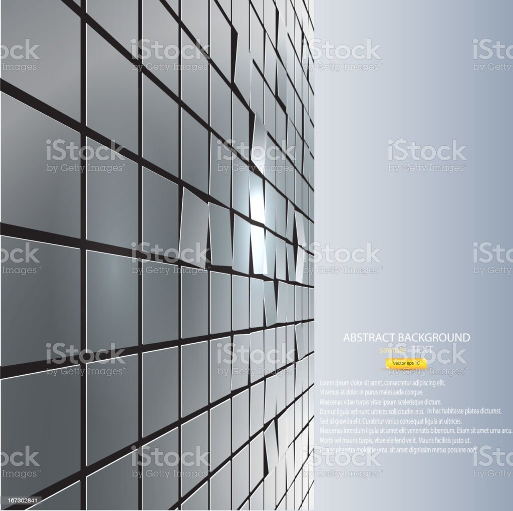 Abstract background of cubes. Vector royalty-free stock vector art