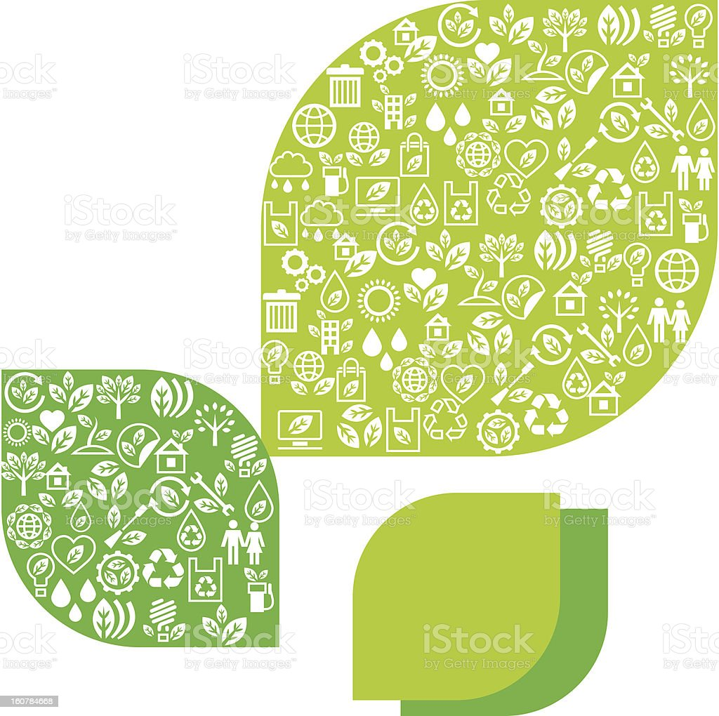 Abstract background of eco web icons. royalty-free stock vector art