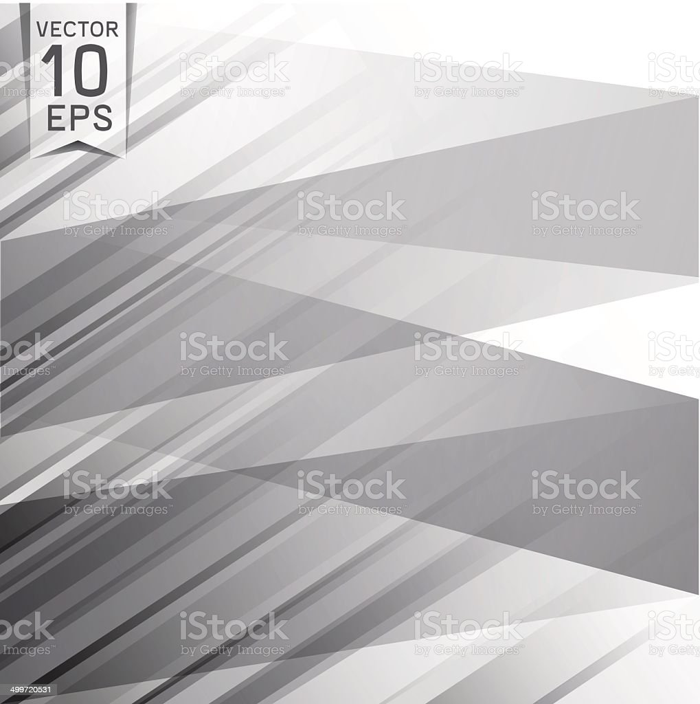Abstract background of gray triangles vector art illustration