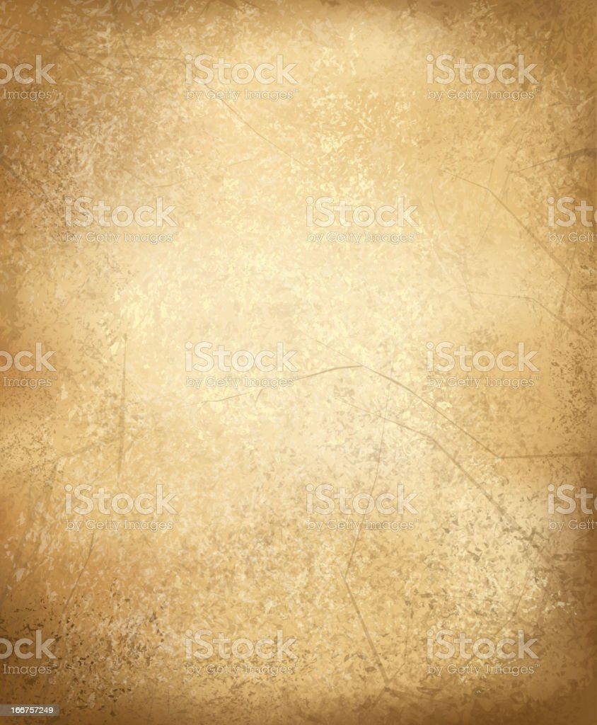 Abstract background of old parchment paper vector art illustration